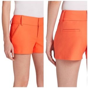 Alice + Olivia Cady Shorts Orange Sherbet 4 NWT